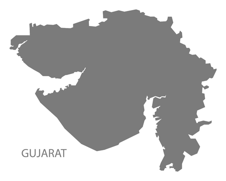 gray: Gujarat India map gray