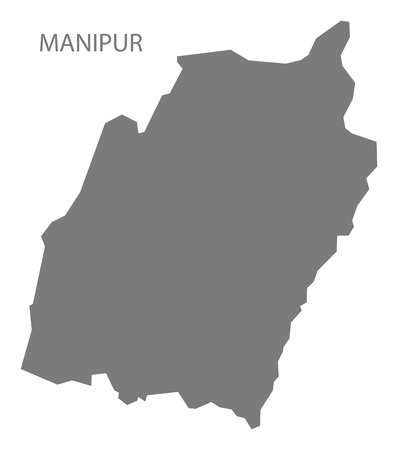 gray: Manipur India map gray