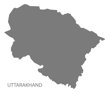 gray: Uttarakhand India map gray