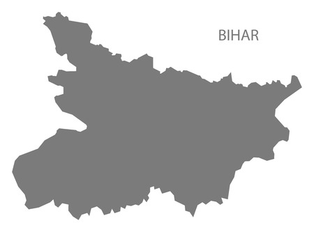 gray: Bihar India map gray
