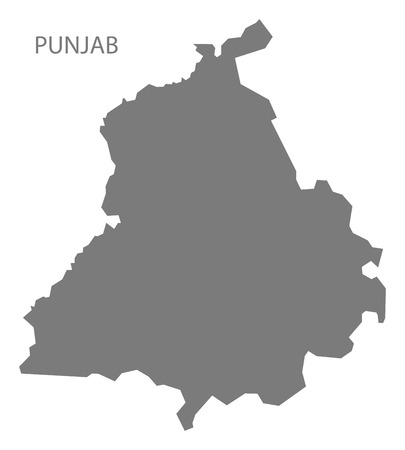 gray: Punjab India map gray Illustration