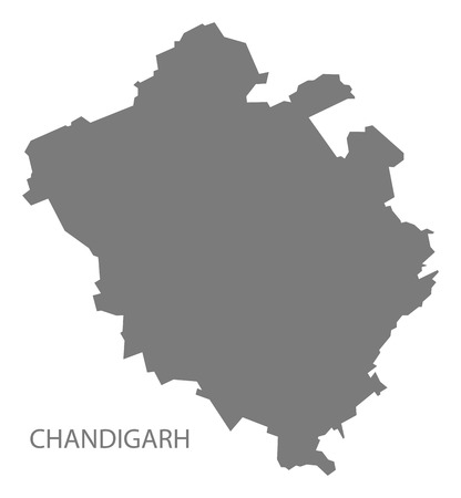 gray: Chandigarh India map gray