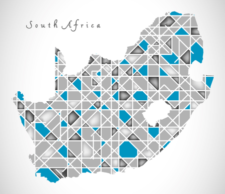 south africa map: South Africa Map crystal style artwork