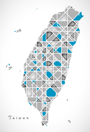 Taiwan Map crystal style artwork