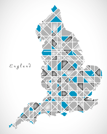 england map: England Map crystal style artwork