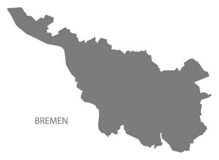 bremen: Bremen Germany Map grey