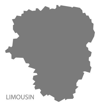 limousin: Limousin France Map grey
