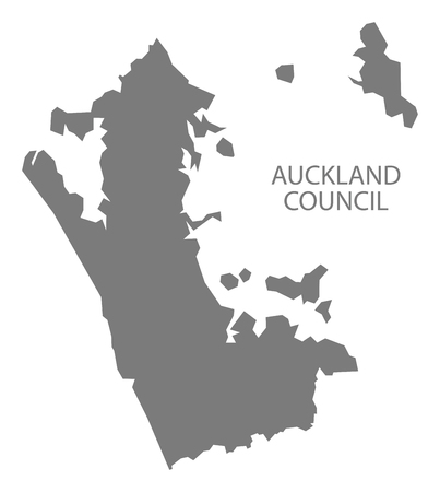 Auckland Council New Zealand Map grey