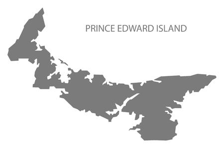 edward: Prince Edward Island Canada Map in grey