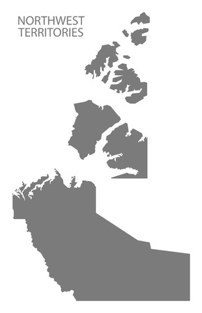 northwest: Northwest Territories Canada Map in grey