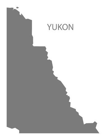 yukon: Yukon Canada Map in grey