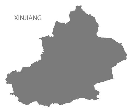 xinjiang: Xinjiang China Map in grey