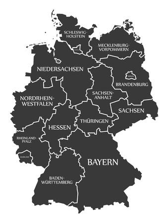黒ラベル ドイツ地図
