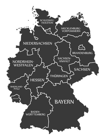 labelled: Germany Map labelled black