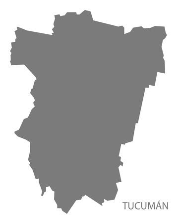 argentina map: Tucuman Argentina Map grey Illustration