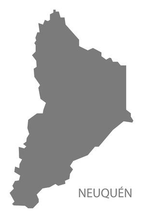 argentina map: Neuquen Argentina Map grey Illustration