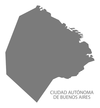 argentina map: Ciudad Autonoma de Buenos Aires Argentina Map grey
