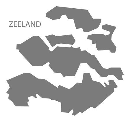 netherlands map: Zeeland Netherlands Map in grey Illustration