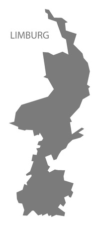 Limburg Netherlands Map in grey