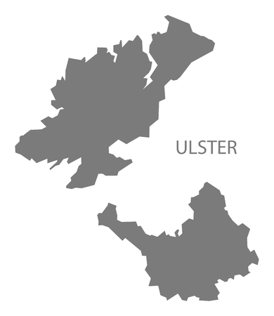 ireland map: Ulster Ireland Map in grey Illustration