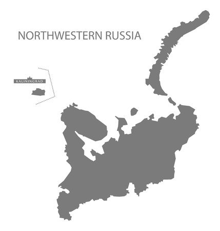 northwestern: Northwestern Russia Map grey