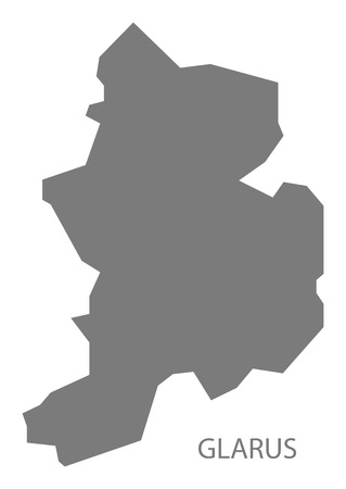 glarus: Glarus Switzerland Map grey