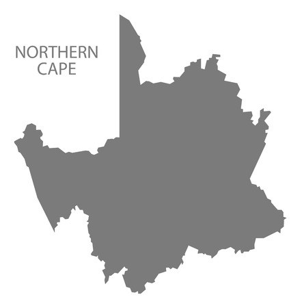south africa map: Northern Cape South Africa Map grey