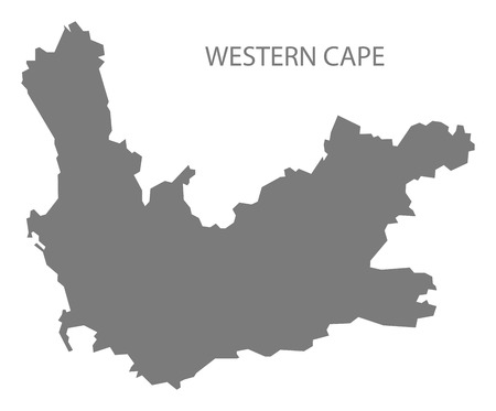 south africa map: Western Cape South Africa Map grey