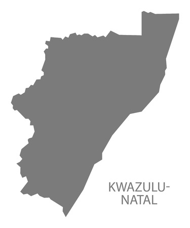 natal: KwaZulu Natal South Africa Map grey