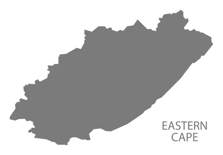 south africa map: Eastern Cape South Africa Map grey
