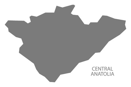 anatolia: Central Anatolia Turkey Map grey