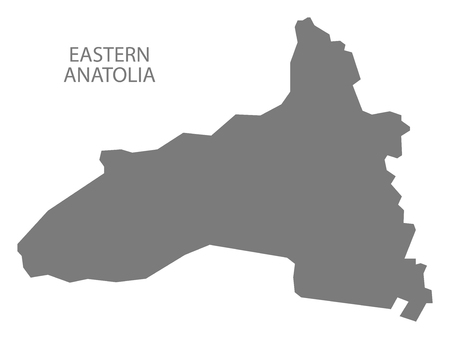 anatolia: Eastern Anatolia Turkey Map grey