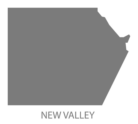 valley: New Valley Egypt Map grey