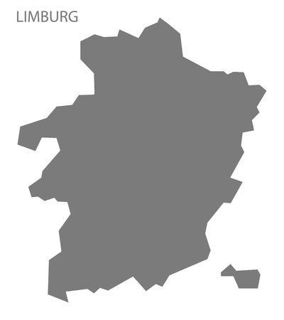 limburg: Limburg Belgium Map in grey