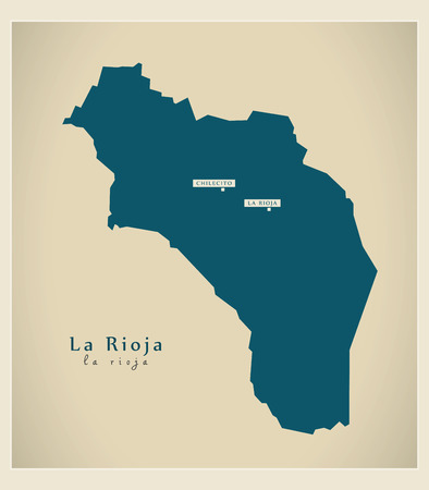 Modern Map - Le Rioja AR Illustration
