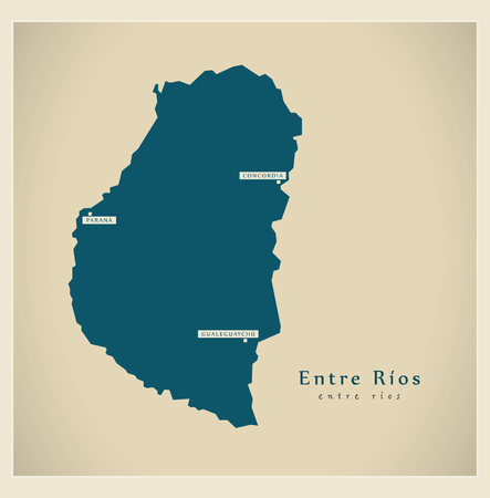 Modern Map - Entre Rios AR