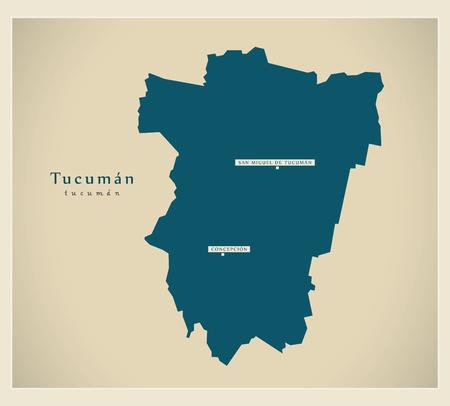 Modern Map - Tucuman AR