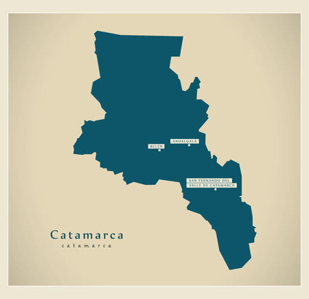 ar: Modern Map - Catamarca AR Illustration