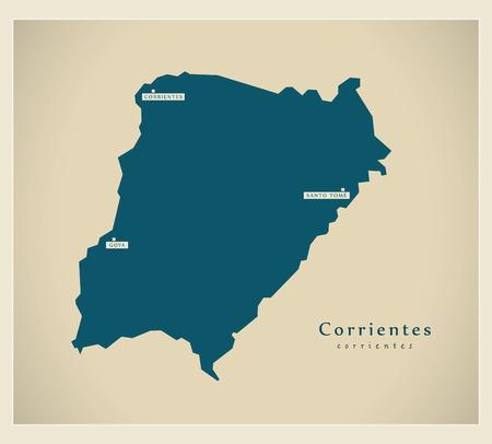 Modern Map - Corrientes AR