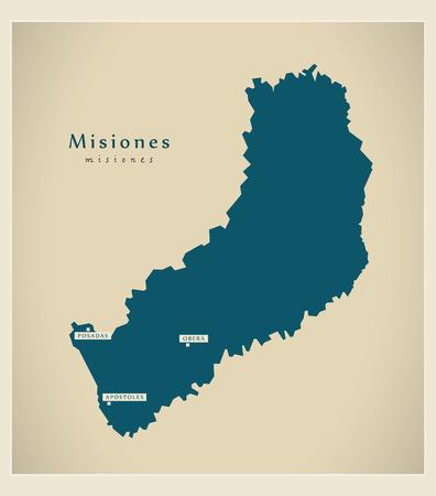 Modern Map - Misiones AR