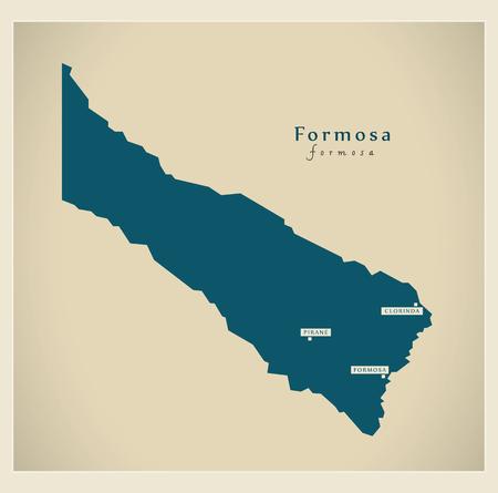 Modern Map - Formosa AR Illustration