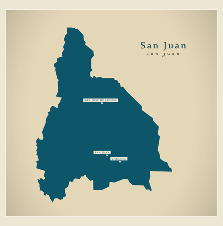 ar: Modern Map - San Juan AR Illustration