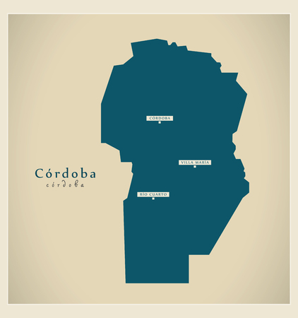 ar: Modern Map - Cordoba AR Illustration
