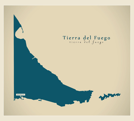 ar: Modern Map - Tierra del Fuego AR Illustration