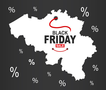 België blackfriday kaart