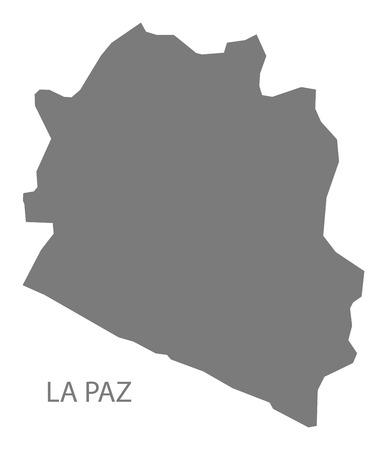la: La Paz El Salvador Map grey