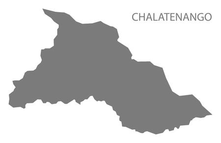 mapa de el salvador: Chalatenango El Salvador Mapa gris Vectores
