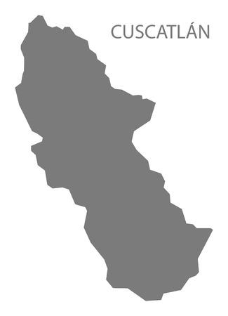 mapa de el salvador: Cuscatlán El Salvador Mapa gris Vectores