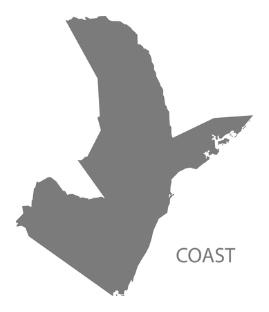 kenya: Coast Kenya Map grey