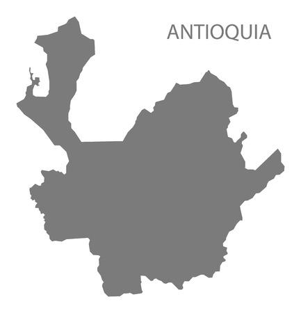 antioquia: Antioquia Colombia Map in grey